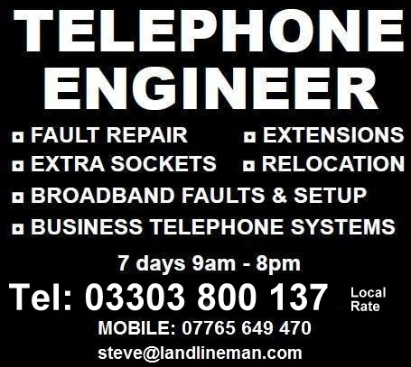 Telephone Engineer - Landline Man